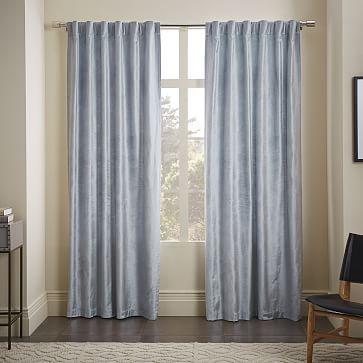 Maybe Cotton Luster Velvet Curtain Dusty Blue Westelm Home Decor Home Decor Sale Curtains