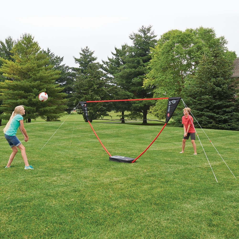 The Instant Family Volleyball Set Hammacher Schlemmer Summer Outdoor Games Volleyball Set Fun Outdoor Games