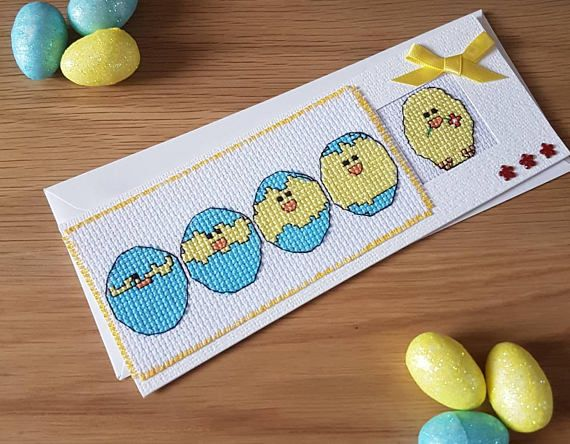 Check out this item in my etsy shop httpsetsyuklisting check out this item in my etsy shop httpsetsyuk listing597831545easter cross stitch card gift card for a easter gifts ideas pinterest negle Choice Image