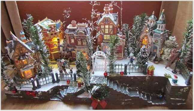 Department 56 Christmas Village Display.Christmas Village Display Platforms Department 56