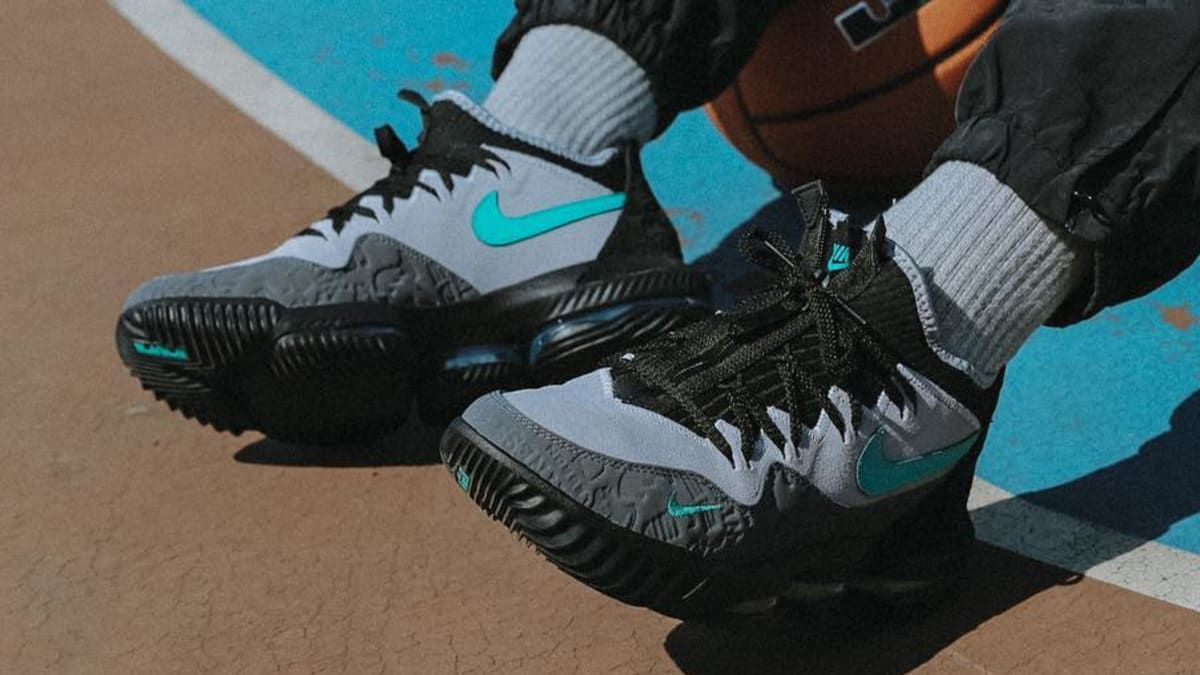 0ca596c8abc6 Atmos x Nike LeBron 16 Low  Clear Jade  Release Date