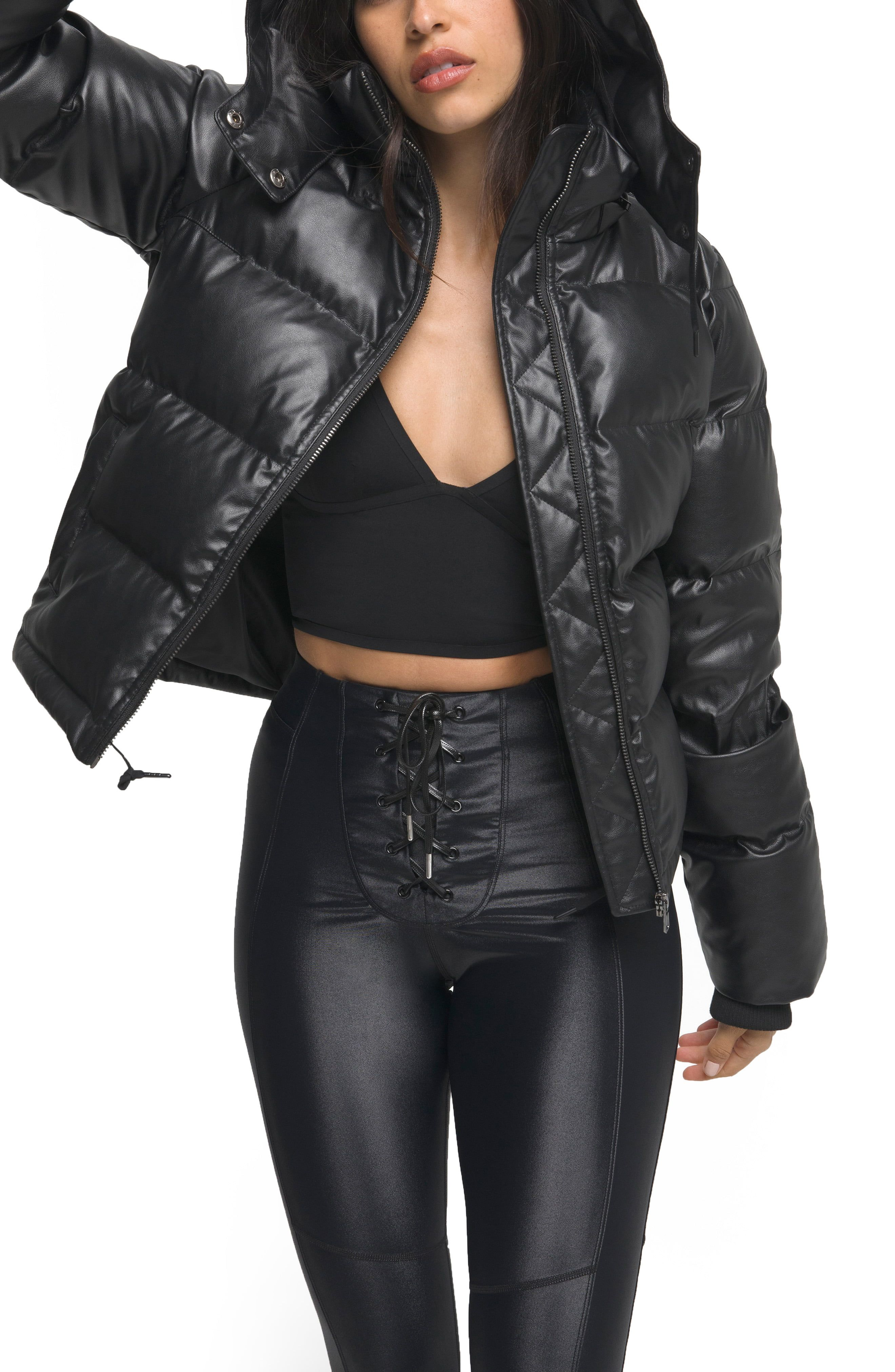 Good American Faux Leather Puffer Jacket Available At Nordstrom Puffer Jackets Jackets Puffer [ 4048 x 2640 Pixel ]