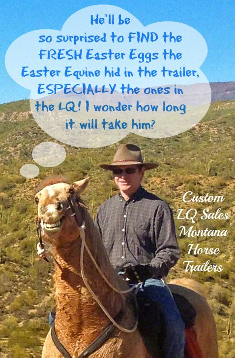 Happy Easter from the Easter Equine and Montana Horse Trailers!