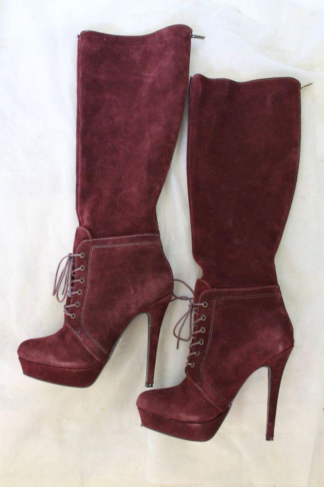 5921efec3ec Victoria's Secret Colin Stuart Suede knee high stiletto boots 61/2 M NEW In  Box #ColinStuart #FashionKneeHigh