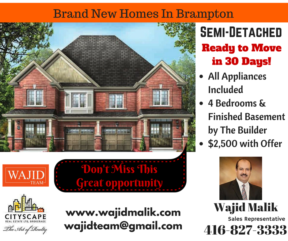 Etonnant Brand New Semi Detached Homes In Brampton! Ready To Move In 30 Days! Finished  BasementsMove ...