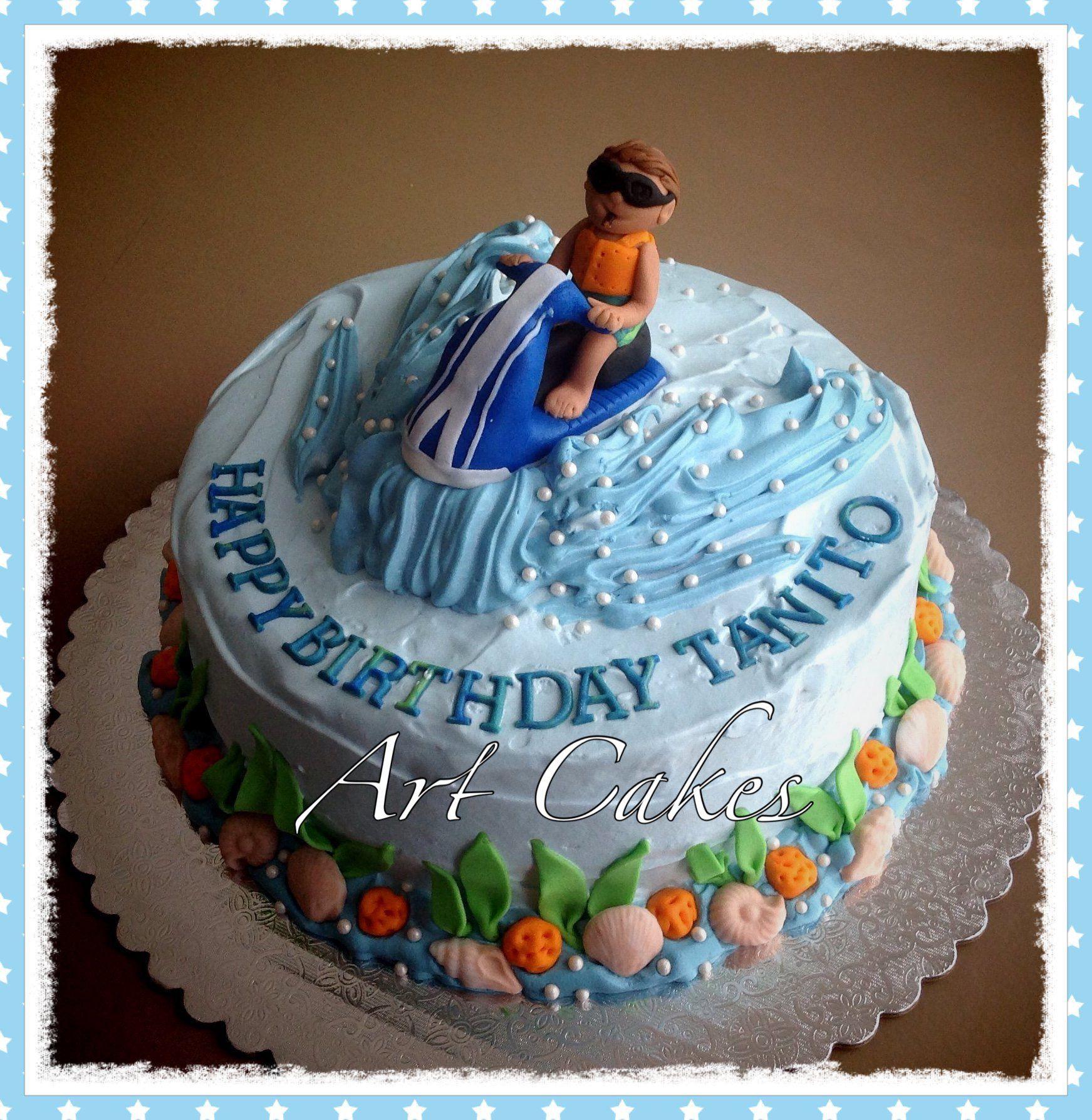 Jet Ski Birthday Cake Cake Desserts Birthday Cake