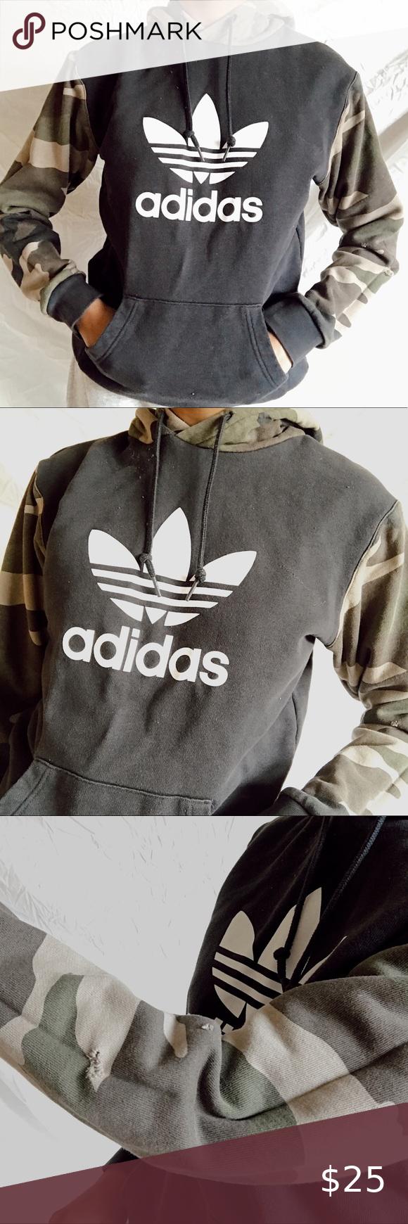 Adidas Originals Hoodie In 2020 Hoodies Womens Pullover Adidas Fleece Hoodie Adidas Cropped Hoodie [ 1740 x 580 Pixel ]