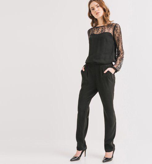 4911dcf8151b03 Combinaison-pantalon Femme noir - Promod | Wishlist en 2019 ...