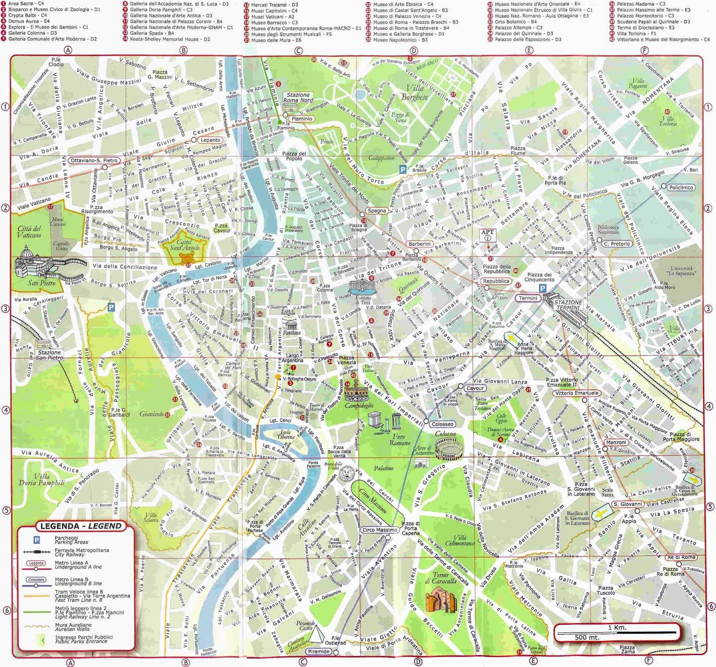 rome walking tour map pdf  google search  roma  pinterest  - detailed tourist map of rome italy
