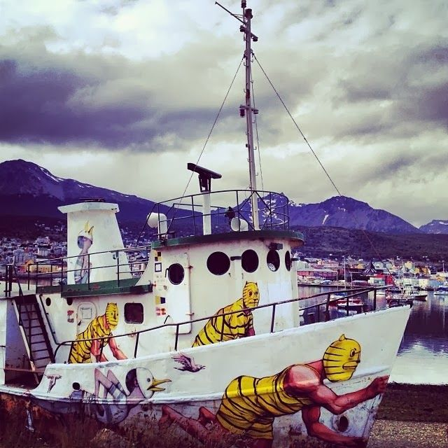 JAZ & Seth Paint a Boat - Ushuaia, Argentina-