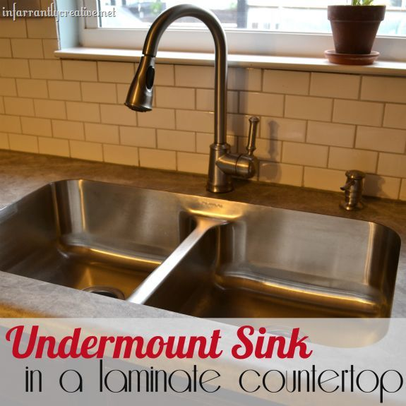 Karran Undermount Sink In Laminate. Great Blog Showing How It Is Done, And  Why It Costs So Much More.