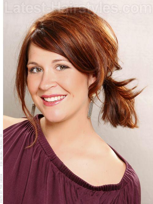 25 Easy Cute Updos For Medium Hair Side Ponytail Hairstyles Medium Hair Styles Updos For Medium Length Hair