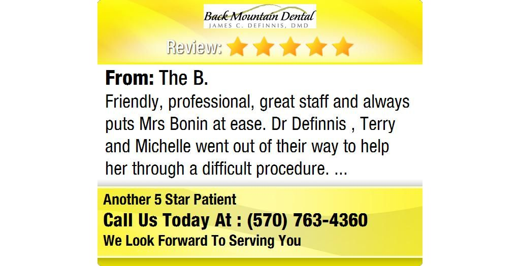 Friendly, professional, great staff and always puts Mrs
