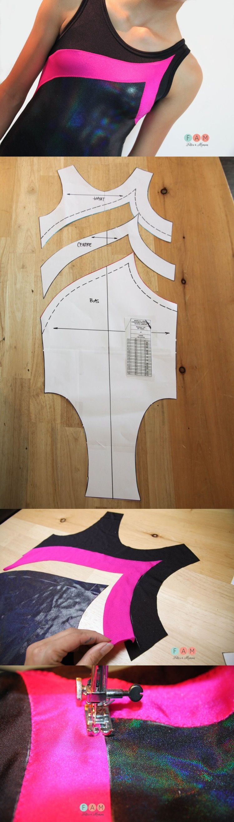 How to colorblock an existing leotard or other pattern sewing how to colorblock an existing leotard or other pattern sewing tutorial jeuxipadfo Image collections