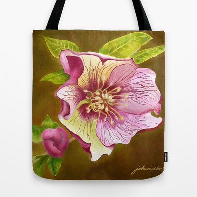 Lenten Rose Tote Bag by JoanAHamilton - $22.00