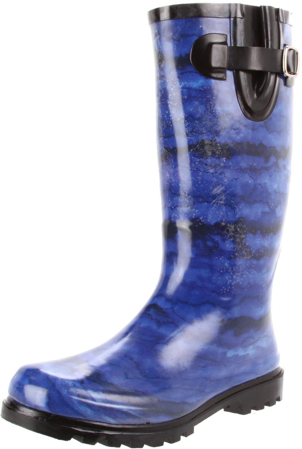 Nomad Rain Boots Puddles Blue Psychedelic Cheap