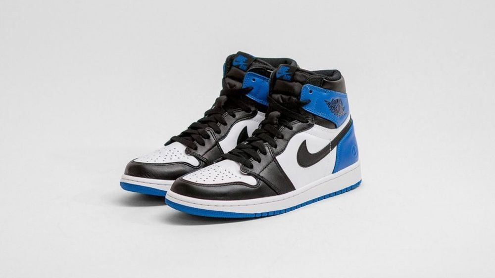 sale retailer 85465 824cd Nike Air Jordan 1 x Fragment Design PRE-ORDER Hiroshi Fujiwara Black Toe  Royal Nike BasketballShoes