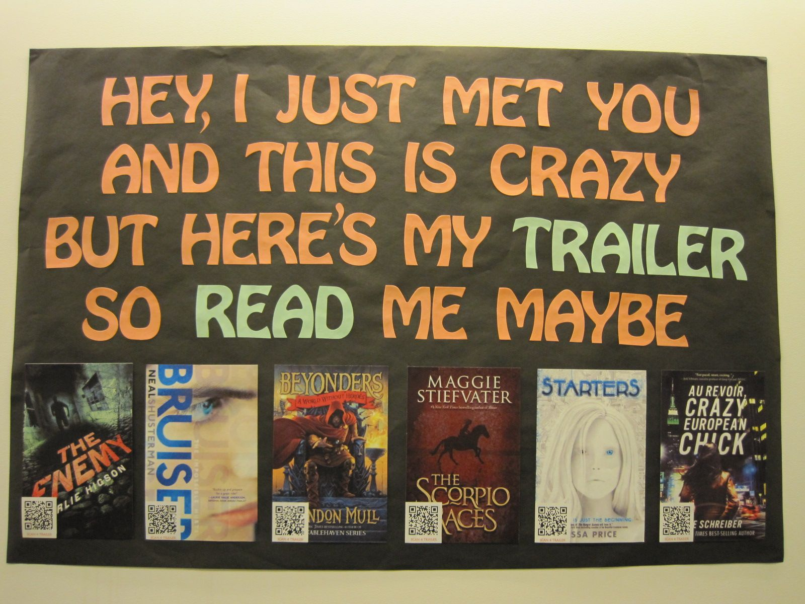 Brilliant! Use QR codes for book trailers. #tlchat #vsla