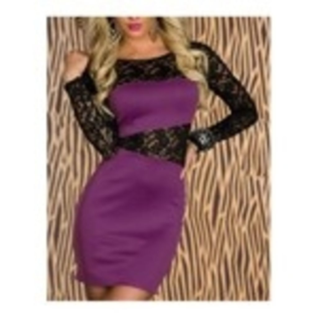 Referencia:SC2738 Sexy y elegante mini vestido con mangas largas de ...