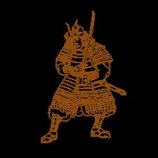 Bushi Samurai Warrior Drawing Warrior Drawing Retro Illustration Samurai Drawing