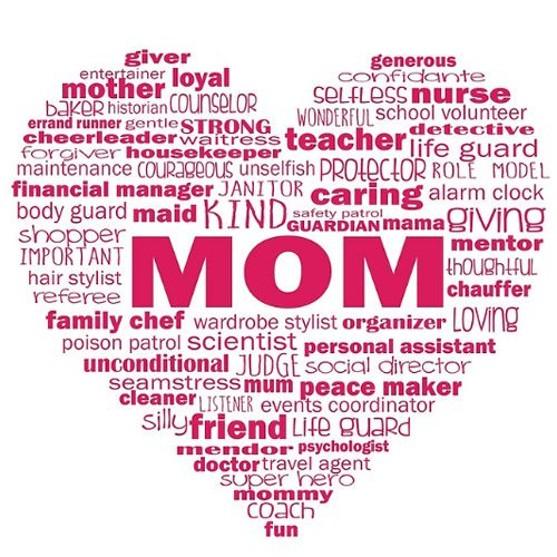 Kind Words For Mom In Heart Sweet Design And Great Gift For Mom Mothers Day Gift Of Words See On Shirts Mugs And Other Gifts From Jitterfly