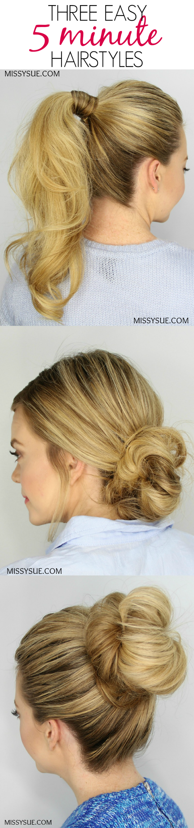 easy minute hairstyles beauty fashion pinterest cabello