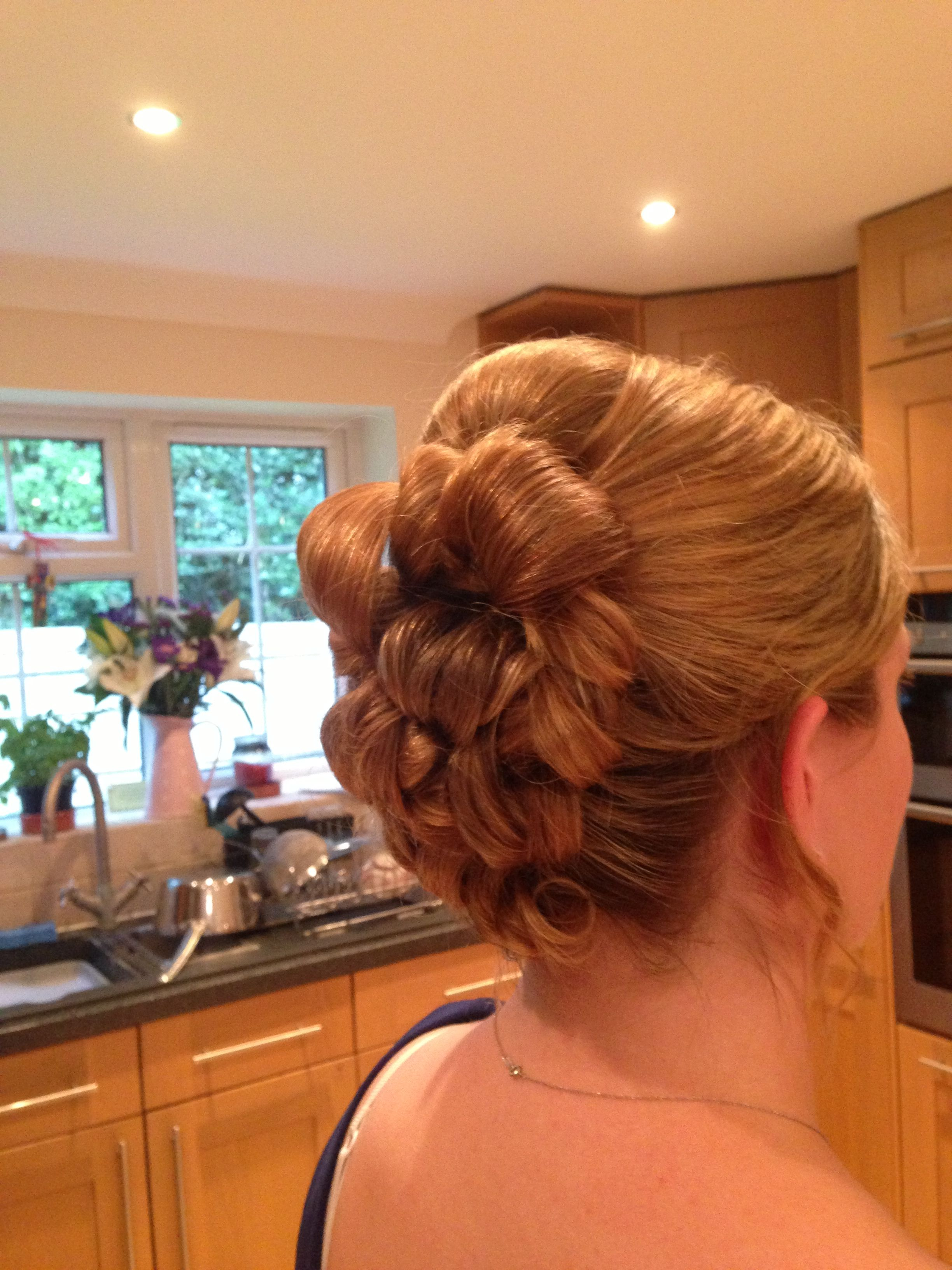 Barrel curl Updo bridal Updos Pinterest