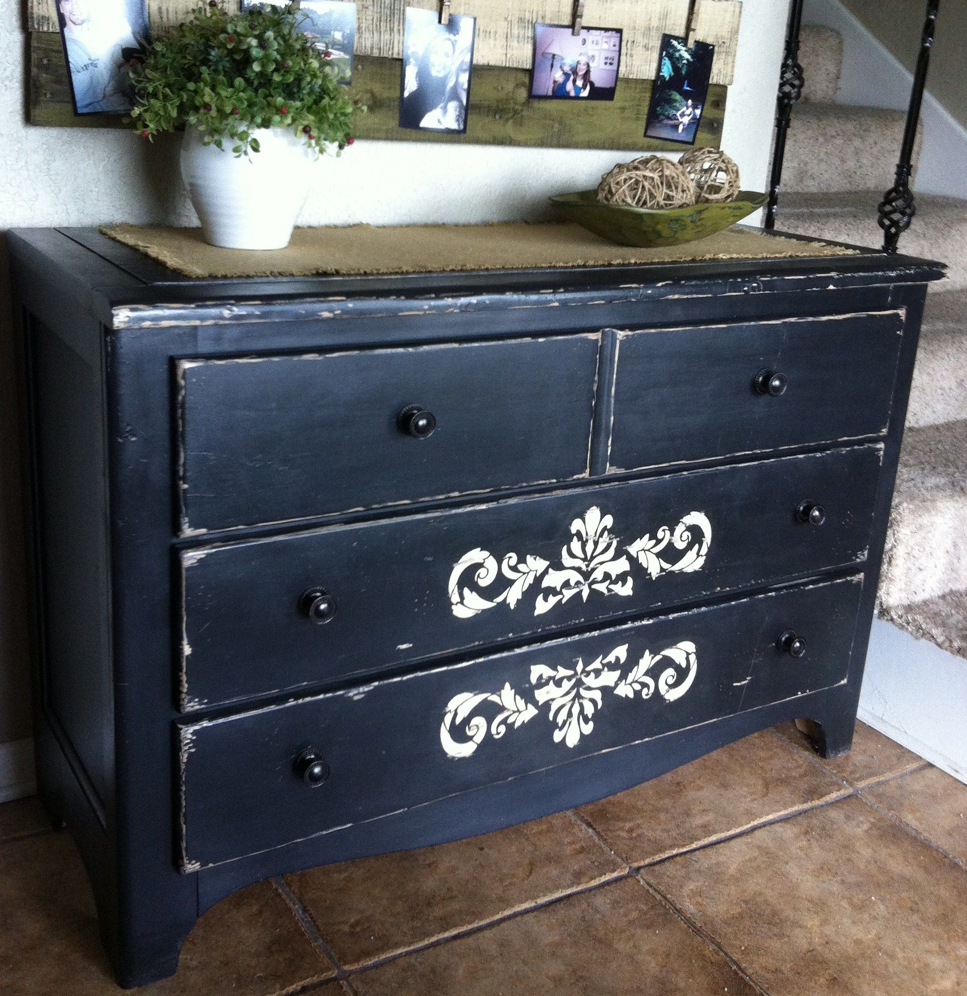 Refurbished Dresser For Use In The Entry!