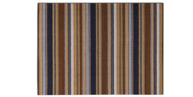 Cool Mackinaw Stripe 8x11 Rug