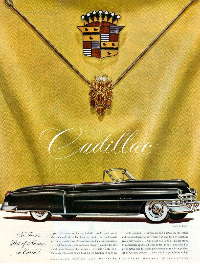 Cadillac No Finer List 1950 Cadillac Classic Cars
