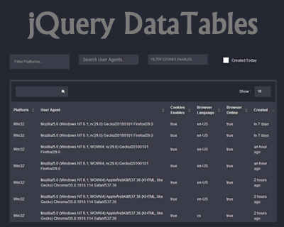 jQuery DataTables – Sort, Page Filter Millions of Records ...