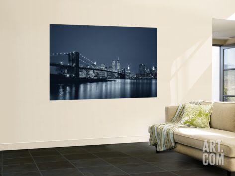 Brooklyn Bridge, New York, USA Wall Mural by Jon Arnold at Art.com