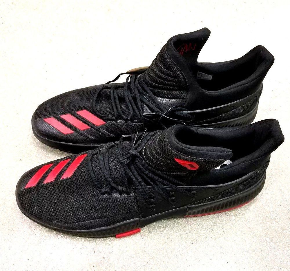 1e0ac3dcc047 Men s Adidas Dame 3 Basketball Shoes Size 20 Black Red CQ0270 Damian ...