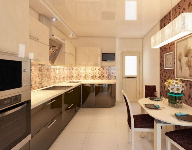 Картинки по запросу кухня в бежево-коричневых тонах ...