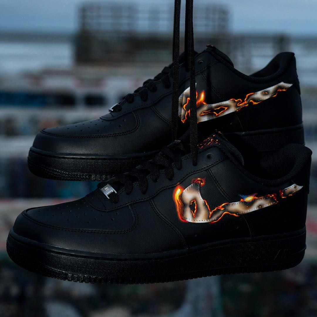 e21dbf8547fd5 Nike Air Force 1 Fire Custom