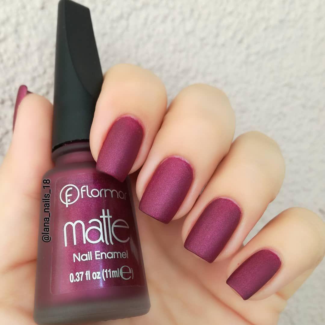 Flormar Matte Nail Enamel Kode Nails Matte Nails Nail Polish
