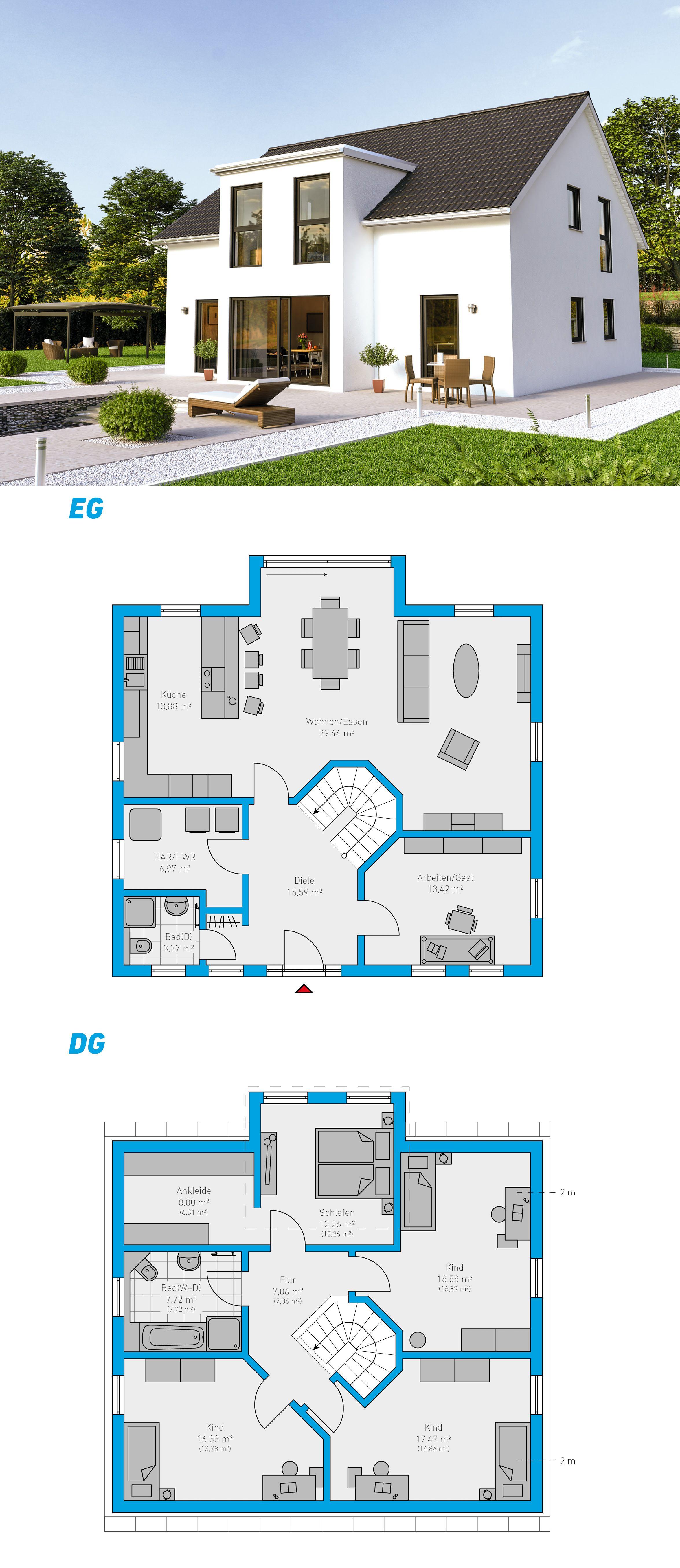 clarus 180 schl sselfertiges massivhaus 1 5 geschossig spektralhaus ingutenw nden 1. Black Bedroom Furniture Sets. Home Design Ideas