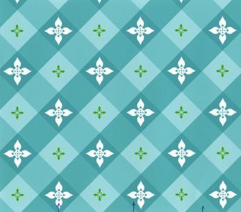 Patty Young Premium Quilt Fabric- Tea On The Terrace Teal