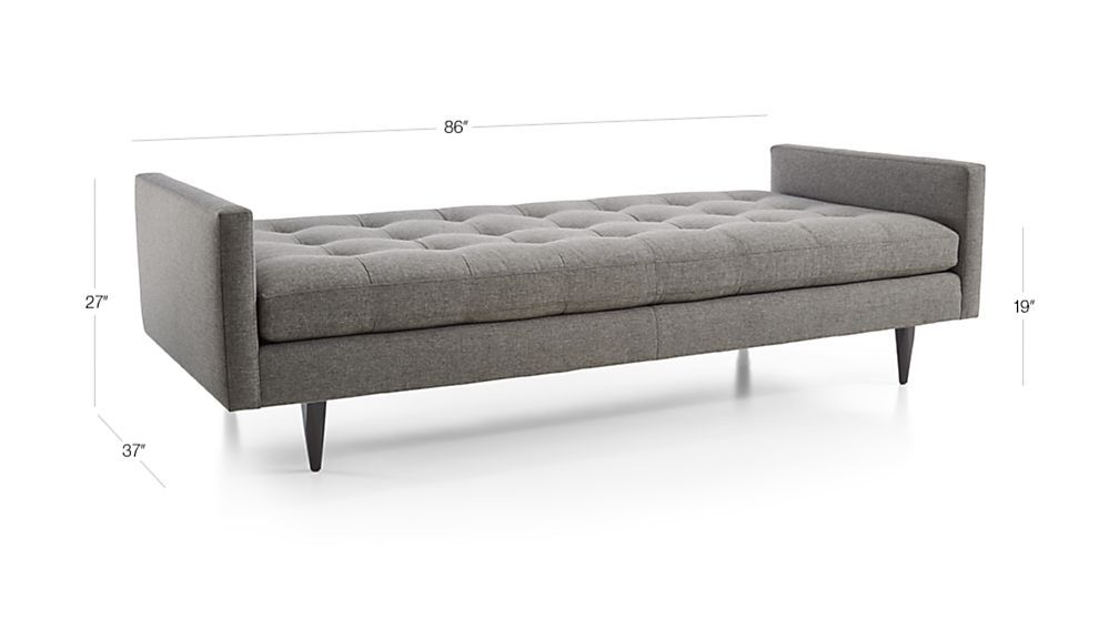 Petrie Midcentury Daybed Reviews Crate And Barrel Mid