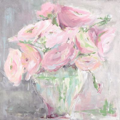 "GreenBox Art ""Rose Serenity"" by Susan Pepe Painting Print on Wrapped Canvas Size:"