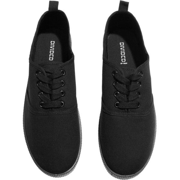 H\u0026M Canvas sneakers ($6.09) ❤ liked on