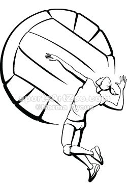 Female Volleyball Spike Clipart