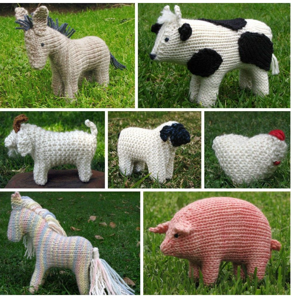 Farm Animals Knitting Ebook - Includes 7 patterns for horse, pig ...