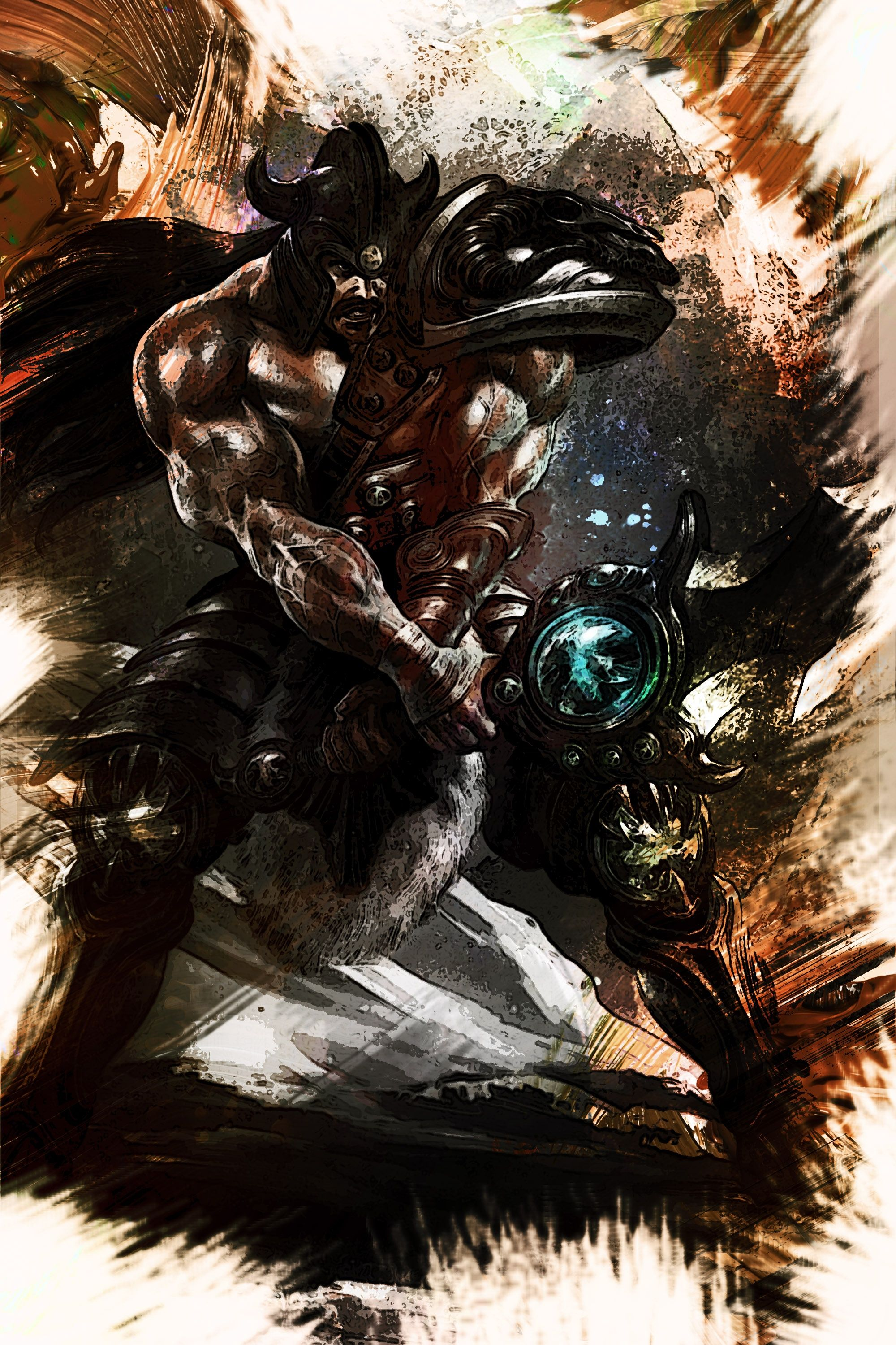 League of legends tryndamere gaming greetings descriptioncustom artwork of the character from the extraordinary game kristyandbryce Gallery