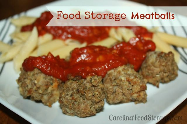 Freeze dried meats are so versatile, you can make casseroles, meatloaf, and more.  I ventured out today and made some meatballs with my freeze dried sausage and ground beef.  The recipe is quick and easy and you don't have to have your hands covered in raw meat!  They do come out a little more crumbly but they taste great. #foodstorage #thrivelife #freezedried #prepper carolinafoodstorage.com