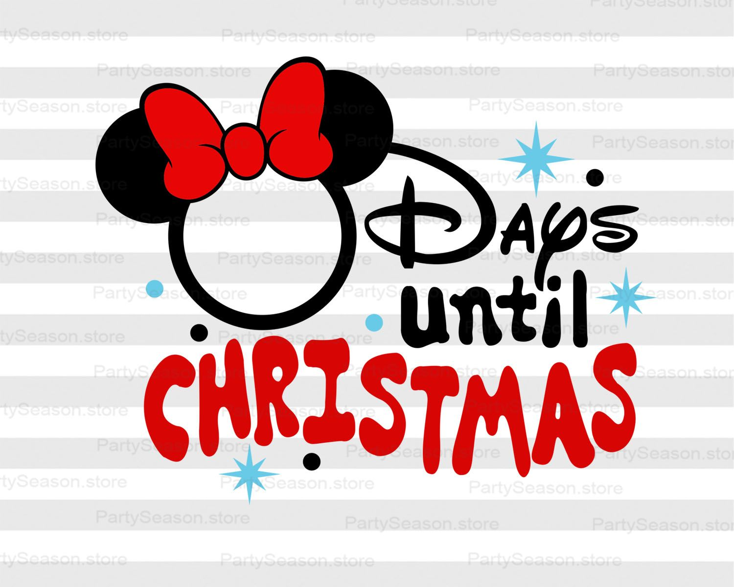 Days Until Christmas Chart Countdown SVG Disney Christmas