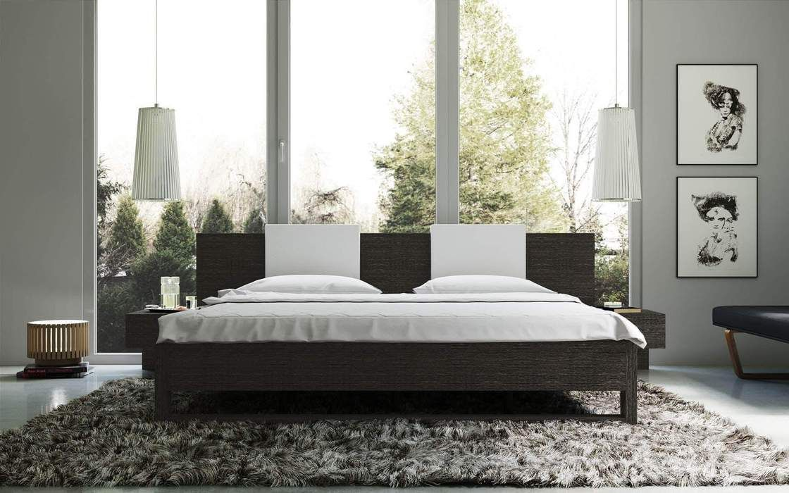 Monroe Platform Bed in Gray Oak Modern bedroom design
