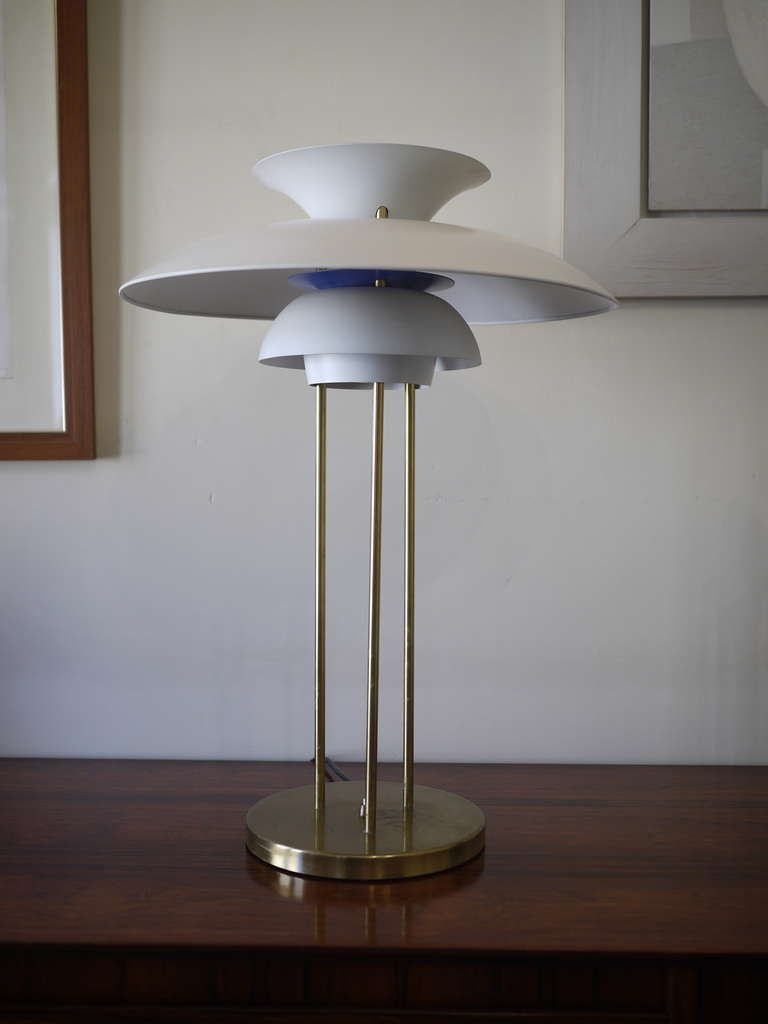 Poul Henningsen PH5  Desk Lamp | From a unique collection of antique and modern table lamps at http://www.1stdibs.com/furniture/lighting/table-lamps/