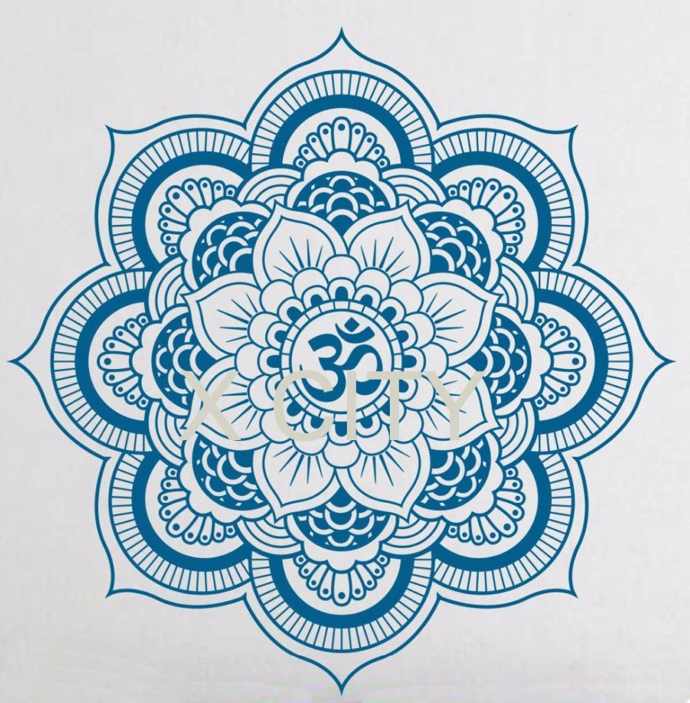Yoga pattern background seamless pattern with five petals lotus flower - Buy Pinturas Murais Big Mandala Vinyl Wall Decal Yoga Sticker Menhdi Lotus Large Pattern Ornament Om Indian Mural Home Decor At Hespirides Gifts For Only
