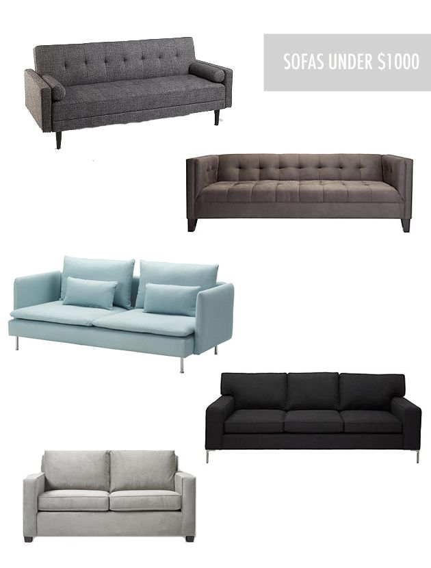 On The Cheap Affordable And Stylish Sofas Under 1000 Life In